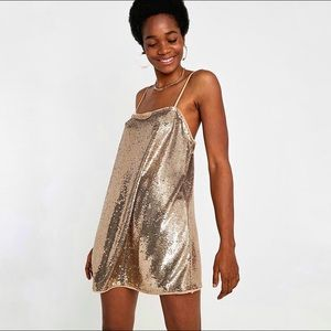 Free People Time To Shine Sequin Slip Dress M